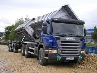 Nákladní doprava - sklápěcí souprava Scania